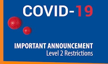COVID-19 update - Level 2 dental restrictions recommended